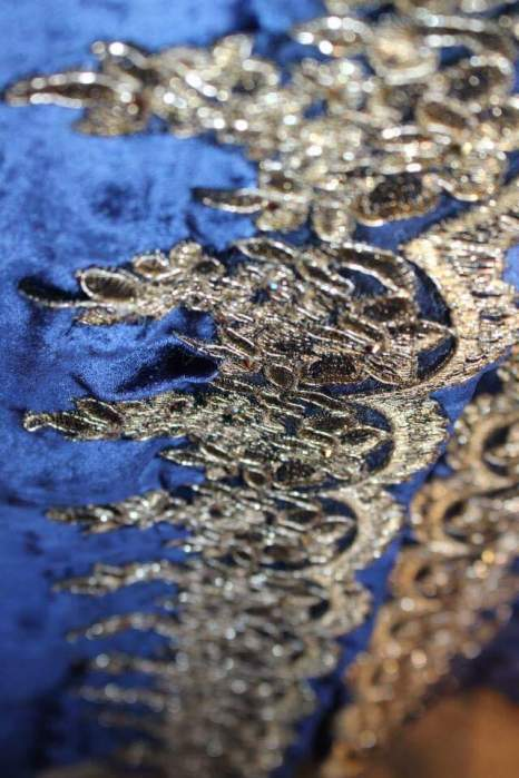 Gold lace work