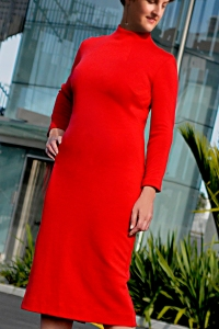 4 WEB  6X4 RED MERINO DRESS