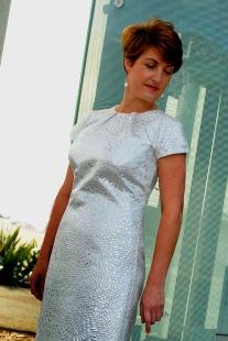 WHITE SILVER DRESS