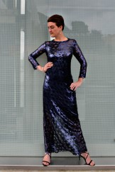 Midnight blue sequin dress
