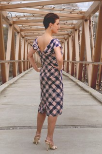 Hounds Tooth Made to Measure skirt and Bodice top by Kate Henry