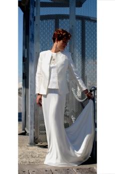 Fabulous Ivory Silk Jacket with Beaded silk Bodice and Silk Satin Skirt 2014