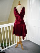 Cute little merlot silk satin dress