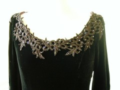 Amazing Black silk velvet
