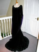 with silk lining in deep purple, different but really suited Client 2003