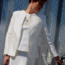 Stunning Silk Fitted Little Tailored Wedding Jacket by Kate Henry Designs