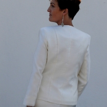 Tailor Made Silk Wedding Jacket by Kate Henry Designs