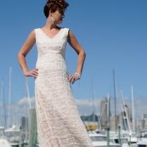 Stunning Blush lace with Cream ribbon detailing