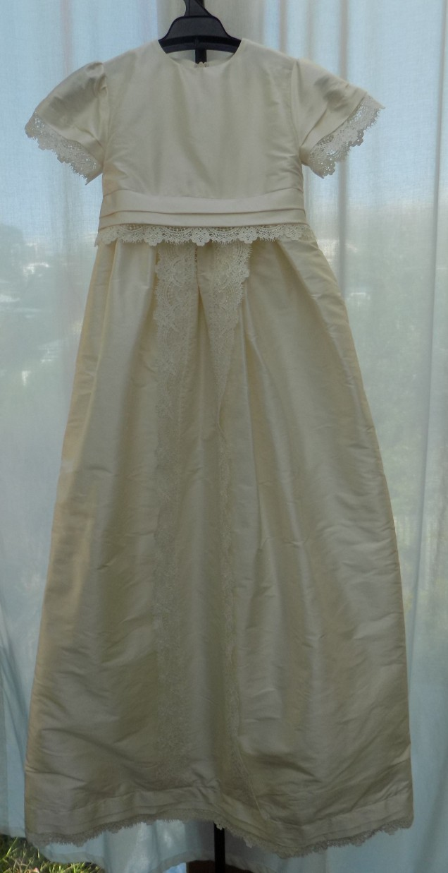 Christining gown made from wedding gown by Kate Henry Designs