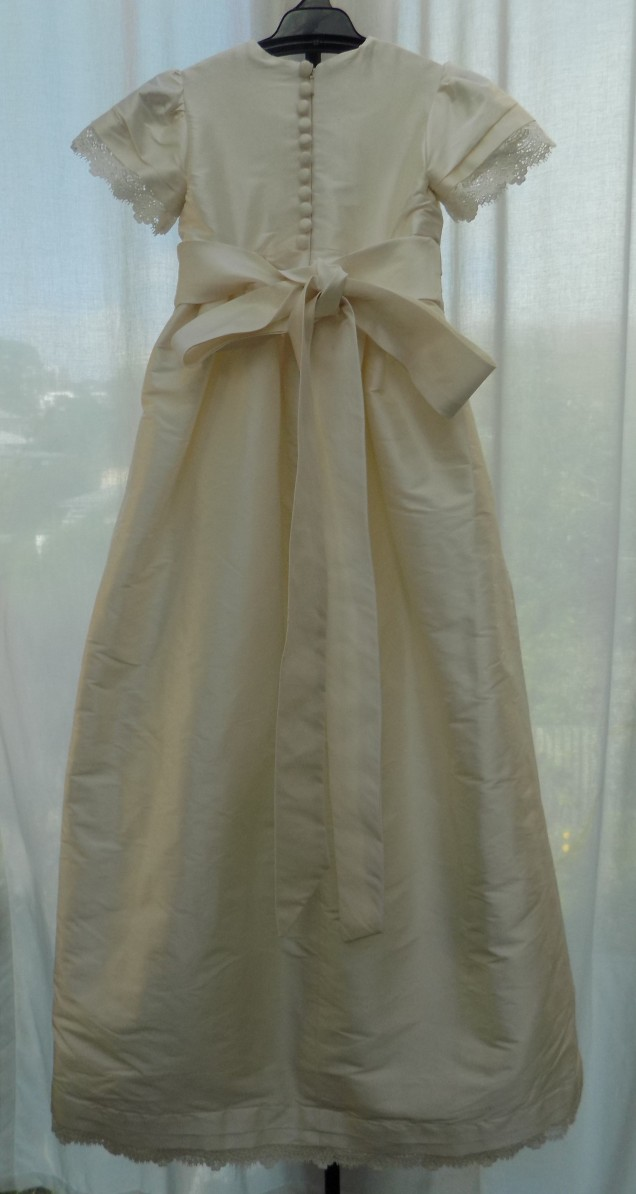 Christining Gown made from mothers wedding gown by Kate Henry Designs