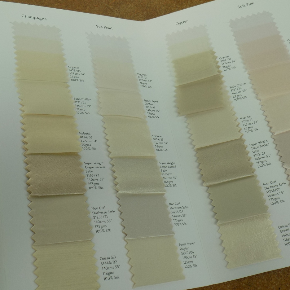 Fabulous Bridal sample shade colors by Kate Henry Designs