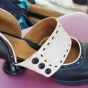 My clients shoes from which I had to design the dress