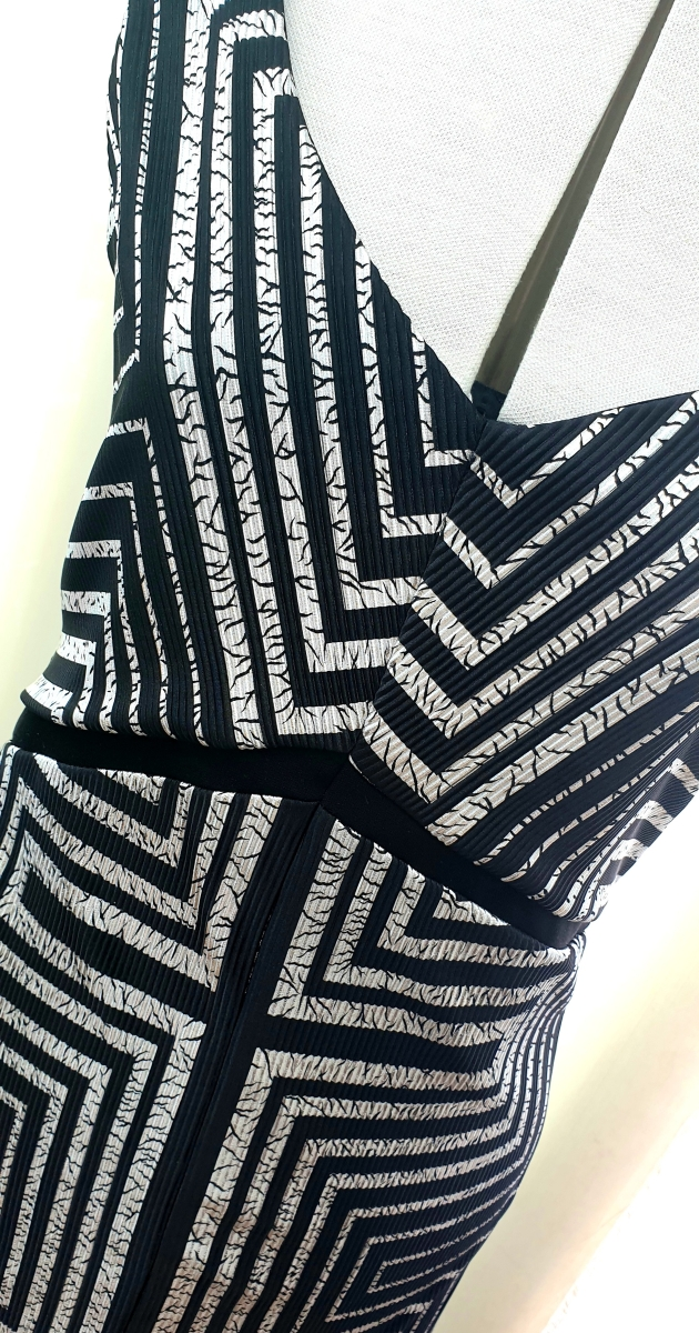 Timeless Black and Silver Art Deco Shift Dress