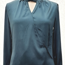 Teal Silk Blouse Custom Made by Kate Henry Designs