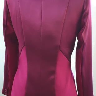 Fabulous Plum Satin Jacket by Kate Henry Designs