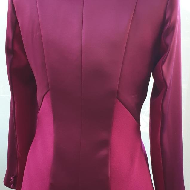 Fabulous Plum Satin Jacket by Kate Henry Designs