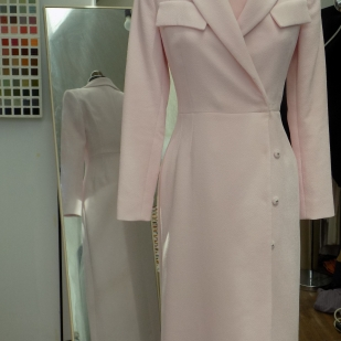 Stunning pale pink tailored mother of the bride outfit