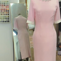 Jackie O inspired Pale Pink shift dress by Kate Henry Designs